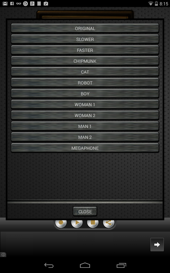 Change My Voice - screenshot