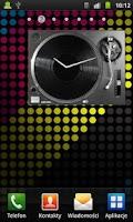 Screenshot of DJ DECK Analog Clock Widget
