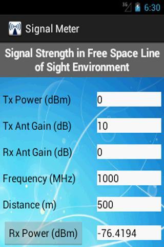 Rx Signal Meter