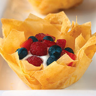 Berry and Mousse Pastries.