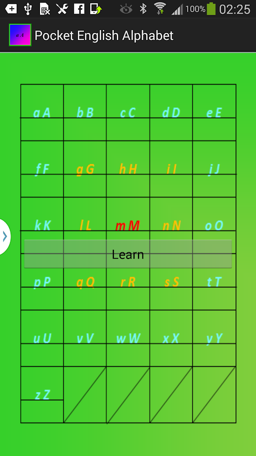 Pocket English Alphabet 2.0 - screenshot