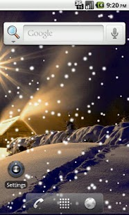 Lovely Snowfall Live Wallpaper - screenshot thumbnail