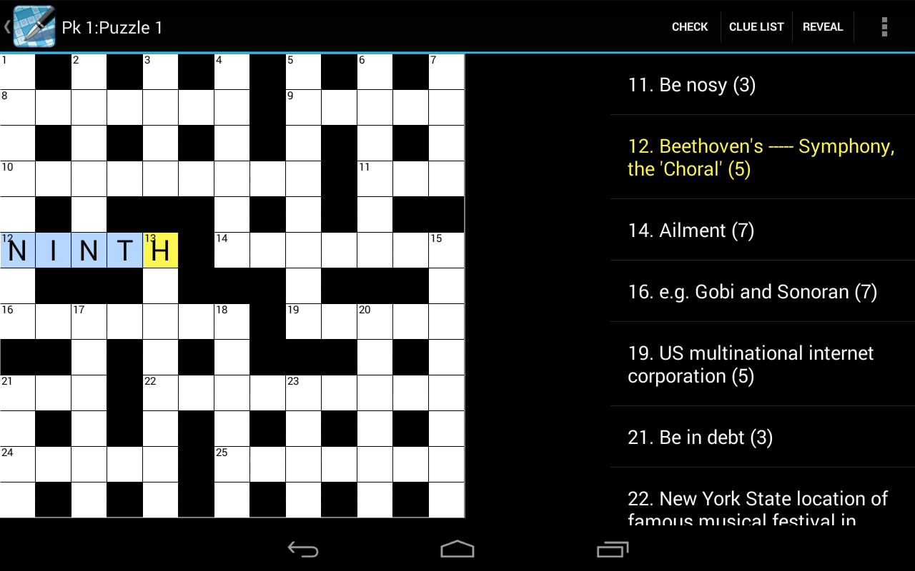 Crossword Lite- screenshot