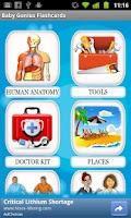 Screenshot of Genius Baby Flashcards 4 Kids