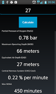 Scuba Extreme Nitrox Calc - screenshot thumbnail