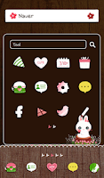 Screenshot of flower rabbit dodol theme