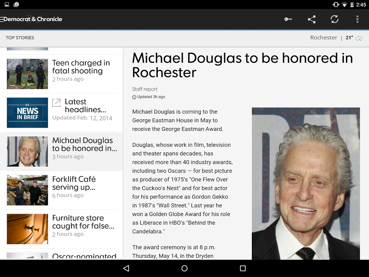 Democrat and Chronicle - screenshot
