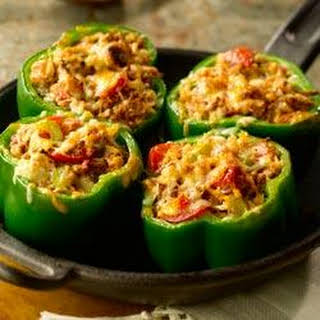 Cheesy Stuffed Peppers with All-Bran.