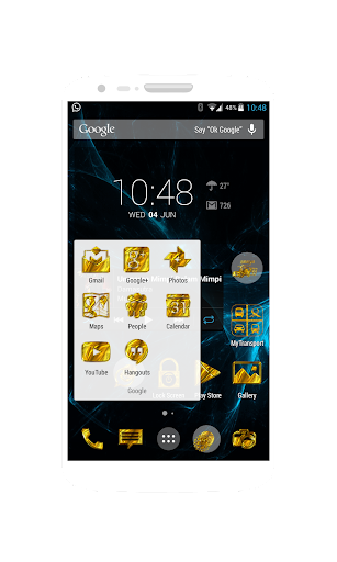 Golden Icons-CM11 Launchers