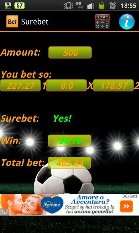 Surebet - screenshot