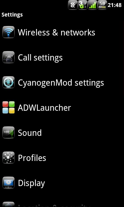 Anastasdroid Color - CM7 Theme - screenshot