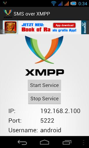 SMS over XMPP