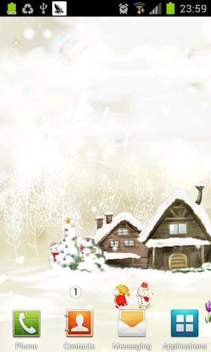 聖誕節雪花飛舞動態壁紙