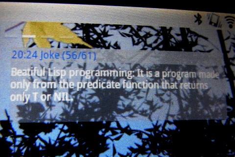 Lisp Joke Widget- screenshot