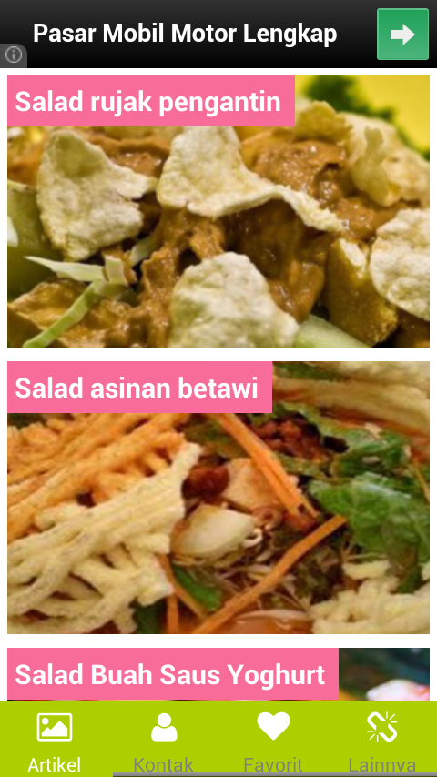 Resep Salad Lengkap - Android Apps on Google Play
