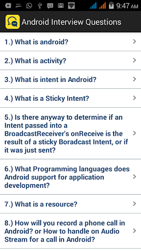 Interview Questions Android