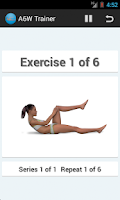 Screenshot of A6W Trainer-Flat Belly Workout