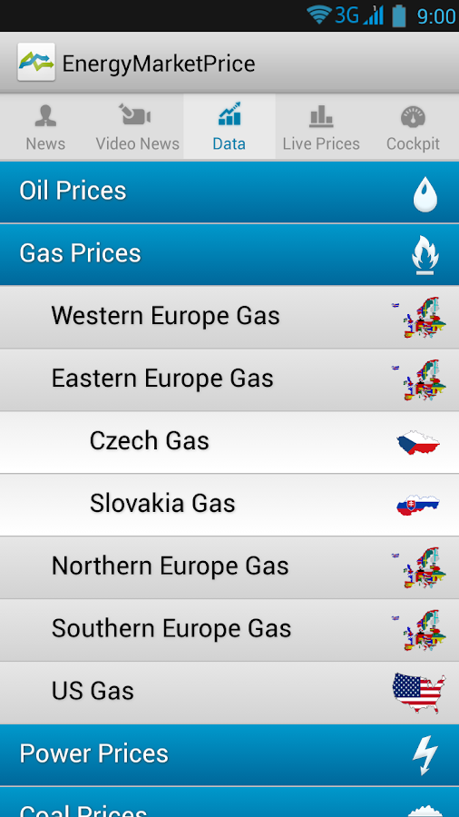 Energy Market Price- screenshot