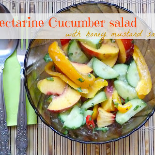 Nectarine And Cucumber Salad With Honey Mustard Sauce