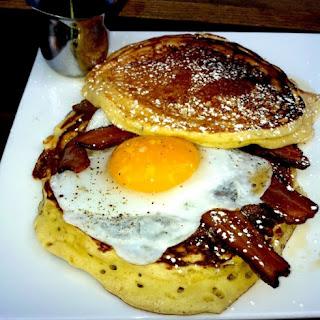Momma Dobias' Pancake Sandwich.