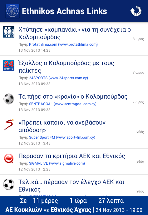 Ethnikos Achnas Links- screenshot