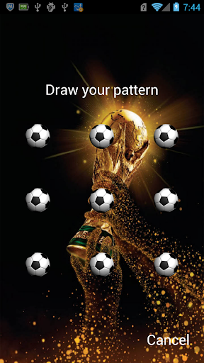 Football Pattern Live Lock-LWP