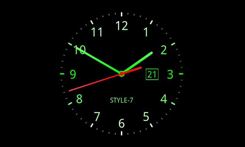 Analog Clock Live Wallpaper 7 Android Apps On Google Play