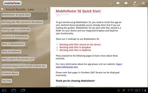 MobileNoter SE HD for Tablet v2.1.0