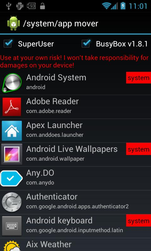 /system/app mover - screenshot