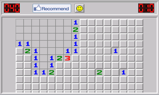 Minesweeper from Windows - screenshot thumbnail