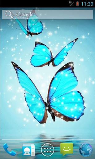 Cyan Butterfly Live Wallpaper
