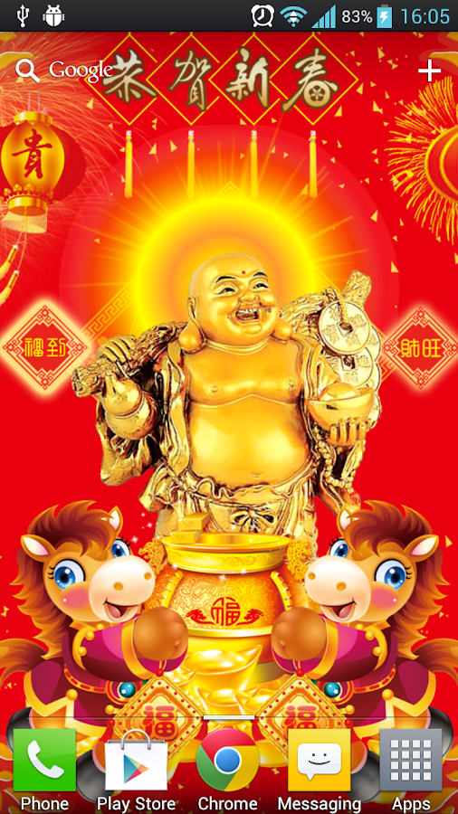 Lucky God Chinese New Year LWP - screenshot