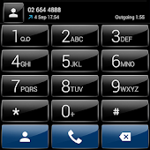 Dialer theme G Black Blue