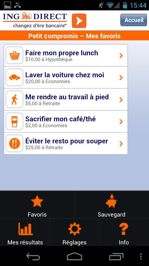 ING DIRECT Canada - screenshot