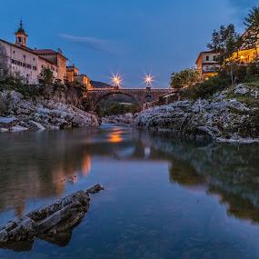 Bridge on Soča river by Andrej Topolovec - Buildings & Architecture Bridges & Suspended Structures ( water, bridge )