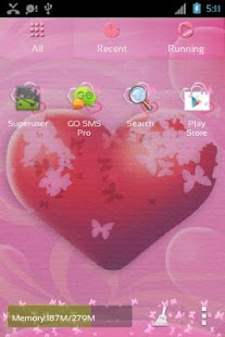 GO Launcher EX Theme Hearts - screenshot thumbnail