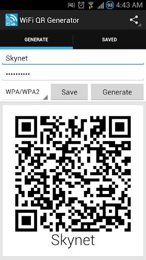 WifiのQRコードジェネレータ