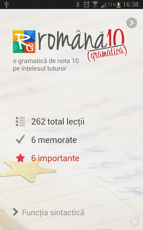 Română 10 Gramatică APK 2 0 0 Download - Free Education APK Download