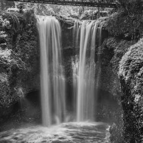 waterfall by Johan Muliawan - Black & White Landscapes