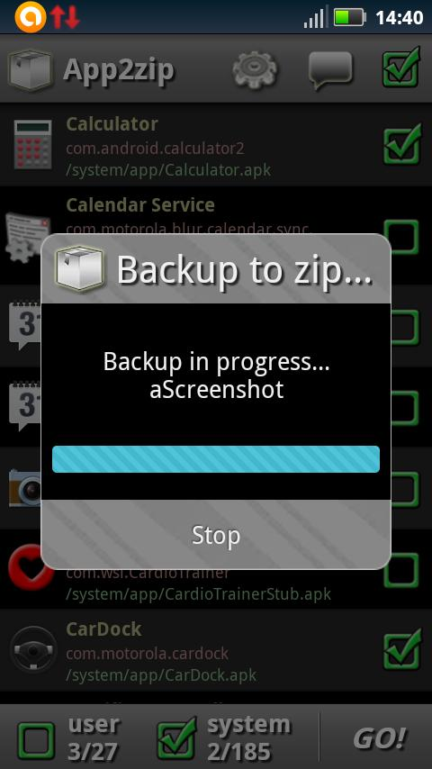 App2zip- screenshot