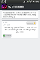Screenshot of Love SMS Collection