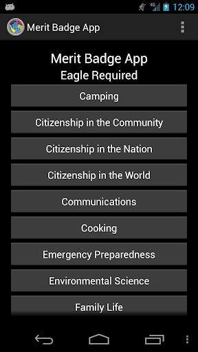 Merit Badge App