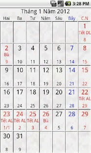 Android Calendar Việt - screenshot thumbnail