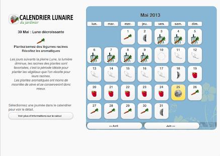 calendrier lunaire du jardin applications android sur google play. Black Bedroom Furniture Sets. Home Design Ideas