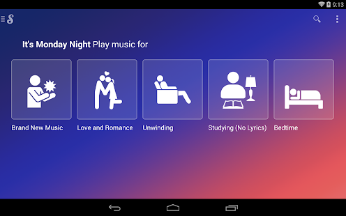 Songza - screenshot thumbnail