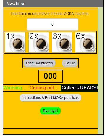 Espresso MokaTimer + Countdown