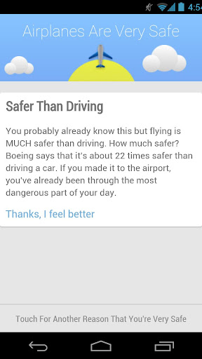 Airplanes Are Safe