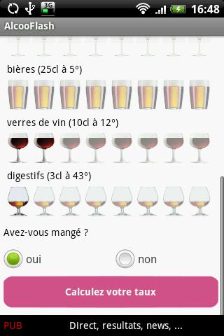 AlcooFlash– Capture d'écran