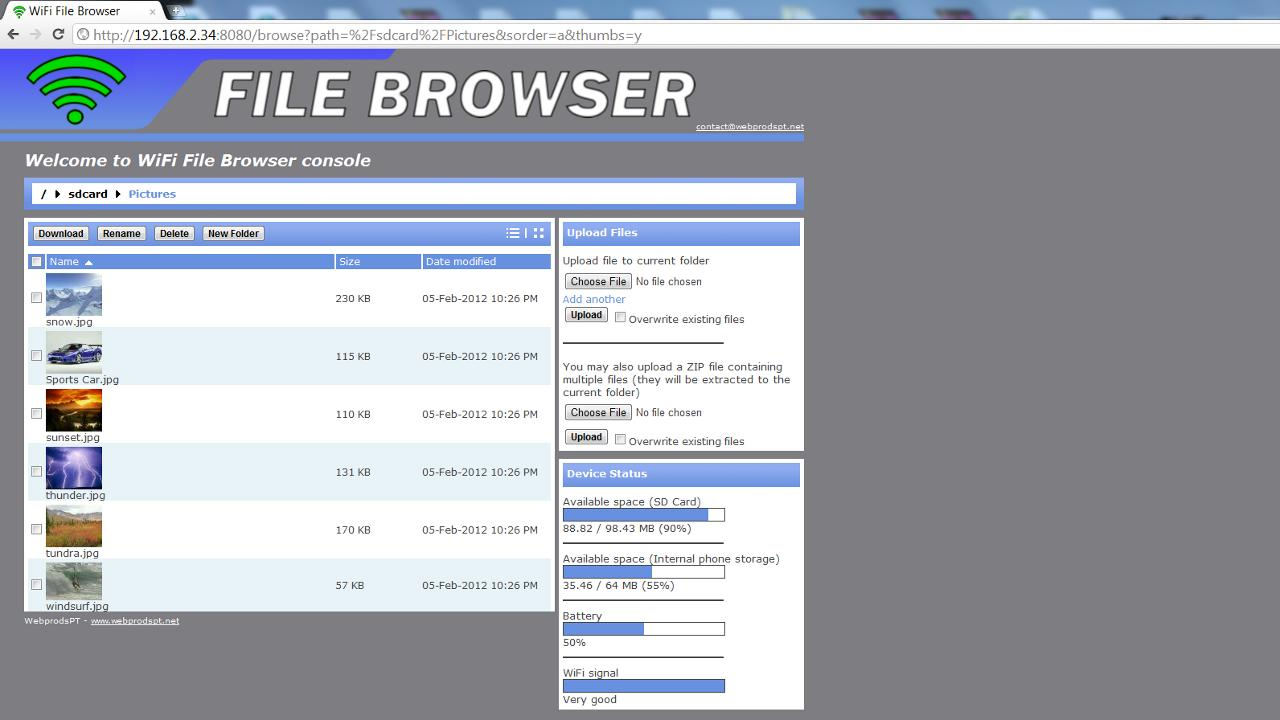 WiFi File Browser Pro - screenshot