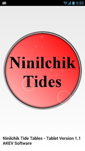Ninilchik Tide Tables Tablet
